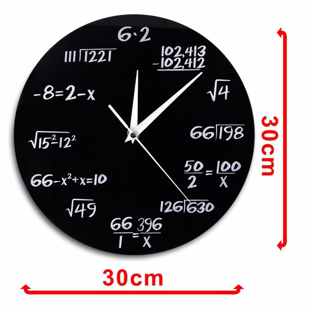 Geek Math Formula Design Wall Clock